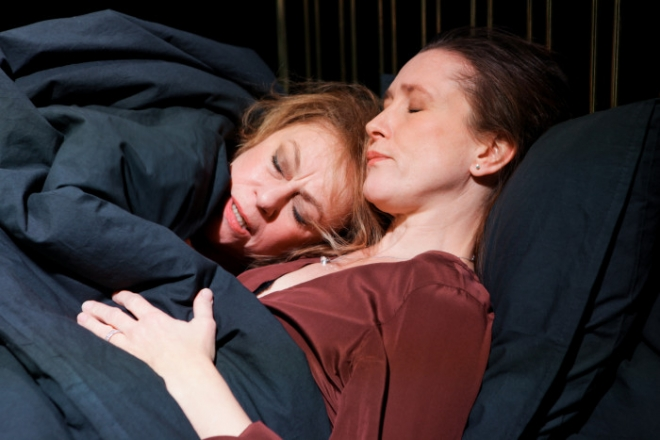 Anna Carlson and Mikaela Ramel in Scenes from a Marriage. Photo: Pontus Eklund