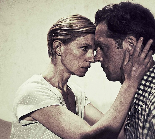 Marianne (Cecilia Frode) and Johan (Niklas Engdahl). Photo: Olle Markensten.