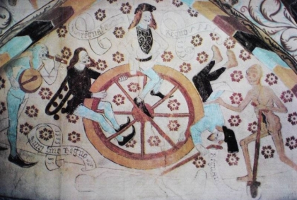 Albertus Pictor, Wheel of Life, Härkeberga Church, late 15th century