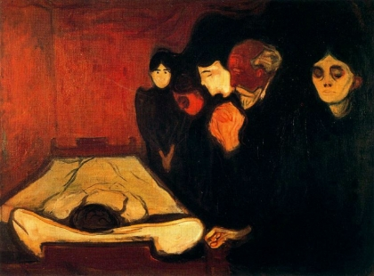Edvard Munch, By the Deathbed (1893).