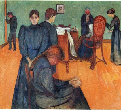 Edvard Munch, Death in the sickroom (1893).