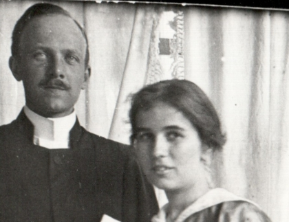 Erik and Karin Bergman, late 1910s_english