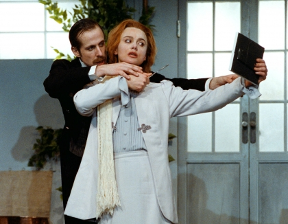 Fröken Julie, Peter Stormare, Lena Olin, Dramaten, 1985, english