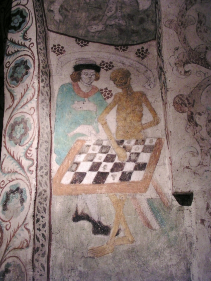 Albertus Pictor, Death playing chess (c. 1485).