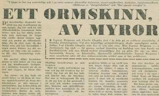 writings writings productions ingmar bergman the snakeskin